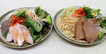 Cold Noodle Salad Plate with Tofu